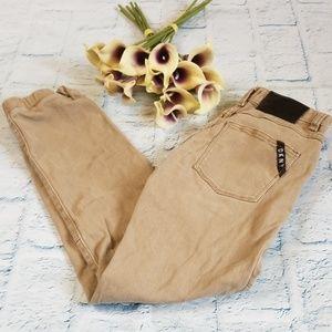 Kids DKNY Khaki Color Jogger Jeans